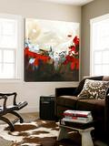 Abstrait rouge Toile Murale Géante par Meejlau
