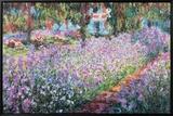 Jardin de Monet Tableau sur toile encadré par Claude Monet