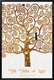 The Tree of Life Pastiche Marzipan Tableau sur toile encadré par Gustav Klimt