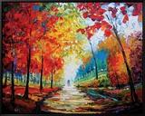 Autumn Impressions Tableau sur toile encadré par Maya Green