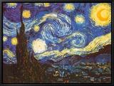 La nuit étoilée, vers 1889 Tableau sur toile encadré par Vincent Van Gogh