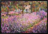 Le jardin de l'artiste à Giverny, vers 1900 Tableau sur toile encadré par Claude Monet