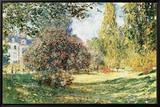 The Parc Monceau, Paris, c.1876 Tableau sur toile encadré par Claude Monet