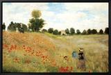 Coquelicots Tableau sur toile encadré par Claude Monet