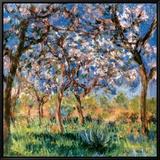 Spring in Giverny Tableau sur toile encadré par Claude Monet