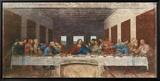 La Cène, vers 1498 Tableau sur toile encadré par Leonardo Da Vinci