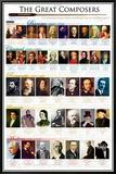 Compositeurs classiques Classical Composers Tableau sur toile encadré