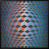 Squares Tableau sur toile encadré par Victor Vasarely