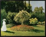 Jeanne Marguerite Lecadre in a Garden, c.1867 Tableau sur toile encadré par Claude Monet