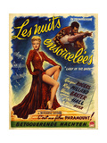 1940s France Lady In The Dark Film Poster