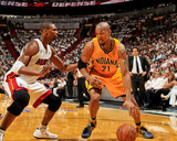 Miami  FL - May 24: David West and Chris Bosh