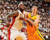 Miami  FL - May 24: LeBron James and Tyler Hansbrough