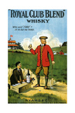 1900s UK Royal Club Blend Whisky Poster