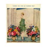 1920s UK Fashion and Flowers Magazine Plate