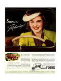 1930s USA Fisher Magazine Advertisement
