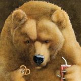 Pretzels & Soda & Bear Reproduction d'art par Will Bullas