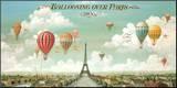 Vol en ballon au dessus de Paris Reproduction montée par Isiah And Benjamin Lane