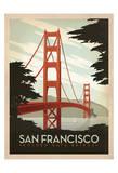 San Francisco: pont du Golden Gate Reproduction d'art par Anderson Design Group