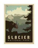 Park national de Glacier Reproduction d'art par Anderson Design Group