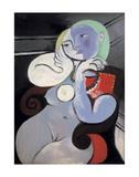 Nude Woman in a Red Armchair, 1932 Reproduction d'art par Pablo Picasso
