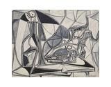 Goat's Skull, Bottle and Candle, 1952 Reproduction d'art par Pablo Picasso