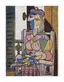 Femme assise devant la fenetre Reproduction d'art par Pablo Picasso
