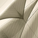 Head Sails of a Schooner Giclée par Michael Kahn