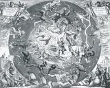 Hemisphae Alis Coeli Sphaeri Grarii Bore et Terre Casceno Phia  1660