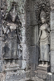 Carved Stone Statues and Relief Sculpture On Temple Walls