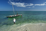 Fishermen Load a Dhow Off Matemo Island in Mozambique
