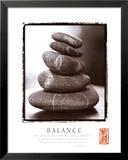 Balance: Rocks Reproduction laminée et encadrée