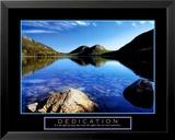 Dévouement - Photo du Jordan Pond, parc national d'Acadie Reproduction laminée et encadrée par Dermot Conlan