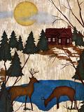 Cabin in the Woods I Reproduction d'art par Nicholas Biscardi