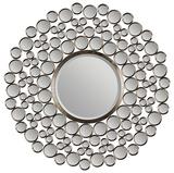 Satin Nickel Bubble Mirror