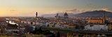 A Panoramic View of Florence at Twilight