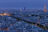 A Panoramic View of the City of Paris, France Reproduction d'art par Stephen Alvarez