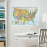 USA Dry-Erase Map Wall Decal Sticker