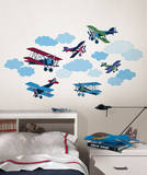 Mighty Vintage Planes Wall Art Decal Kit