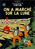 On a marché sur la Lune, vers 1954 Reproduction d'art par Hergé (Georges Rémi)