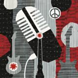 Rock 'n Roll Mic Reproduction d'art par Michael Mullan