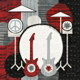 Rock 'n Roll Drums Reproduction d'art par Michael Mullan