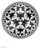 Limite du cercle IV Reproduction d'art par M. C. Escher