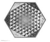 Verbum Reproduction d'art par M. C. Escher