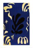Composition Fond Bleu Reproduction d'art par Henri Matisse