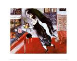 Anniversaire Reproduction d'art par Marc Chagall