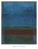 Bleu, vert et marron Reproduction d'art par Mark Rothko