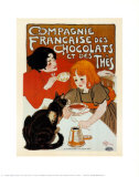 Compagnie des chocolats et des thés Reproduction d'art par Théophile Alexandre Steinlen