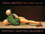 Salade allongée Reproduction d'art par Greg Brown