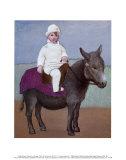 Paul sur l'âne Reproduction d'art par Pablo Picasso