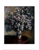 Asters, 1880 Reproduction d'art par Claude Monet